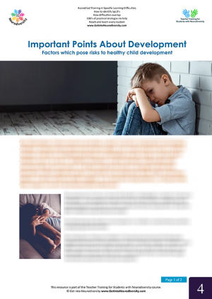 Important Points About Development Factors which pose risks to healthy child development blrd